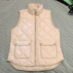 White/Ivory J Crew Puffer Vest - Small